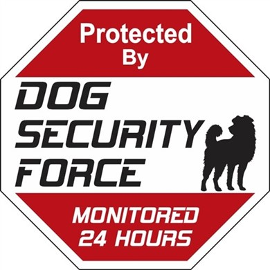 Dog Security Force Sign