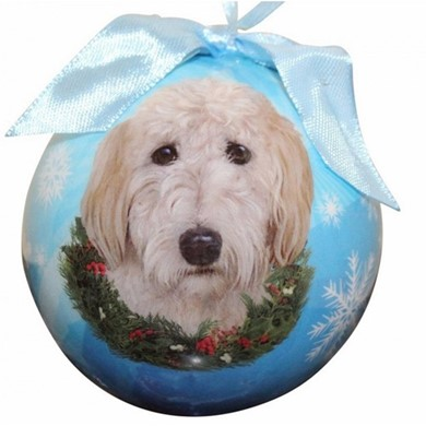 Goldendoodle Ball Christmas Ornament