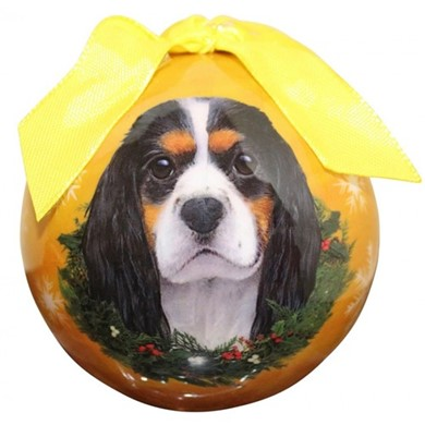 Cavalier King Charles Ball Christmas Ornament - click for more breed colors