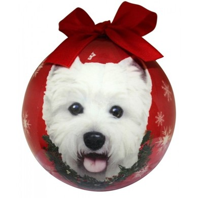 West Highland Terrier Ball Christmas Ornament