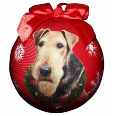 Airedale Terrier Ball Christmas Ornament