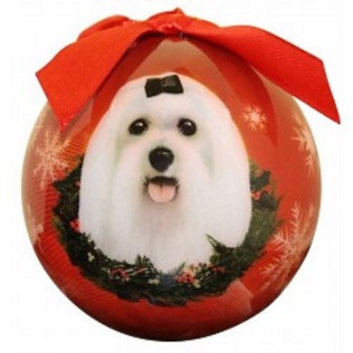 Maltese Ball Christmas Ornament