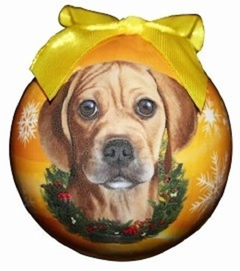 Puggle Ball Christmas Ornament