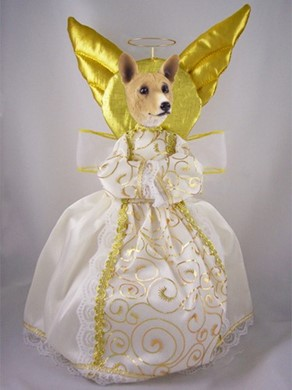 Basenji Angel Tree Topper