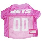 New York Jets Pink Pet Football Jersey