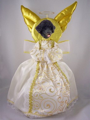 Portuguese Water Dog Angel Tree Topper