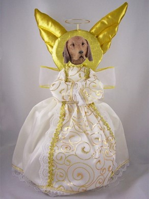 Vizsla Angel Tree Topper