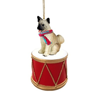 Akita Drum Dog Christmas Ornament