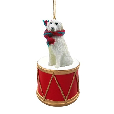 Great Pyrenees Drum Dog Christmas Ornament
