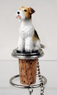 Wire Fox Terrier Bottle Stopper