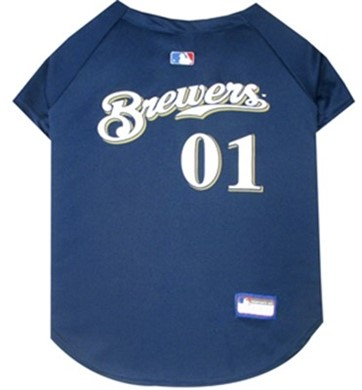 Milwaukee Brewers Pet MLB Jersey