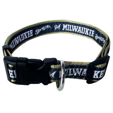 Milwaukee Brewers Dog MLB Collar
