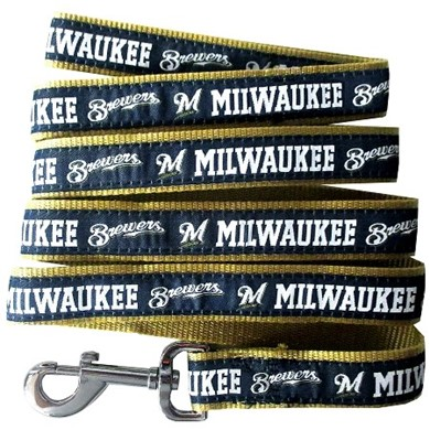 Milwaukee Brewers MLB Dog Lead