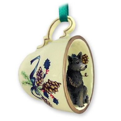 Australian Cattle Dog Tea Cup Holiday Ornament