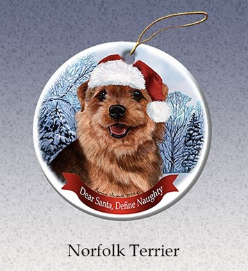 Norfolk Terrier Dear Santa Dog Christmas Ornament