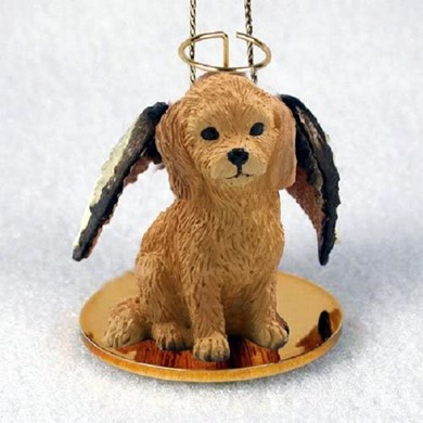 Goldendoodle Angel Ornament
