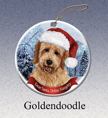 Goldendoodle Dear Santa Dog Christmas Ornament