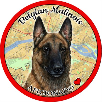 Belgian Malinois Car Coaster Buddy