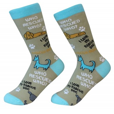 Who Rescued Who? Pet Lover Socks