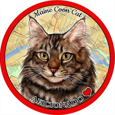 Maine Coon Cat Car Coaster Buddy