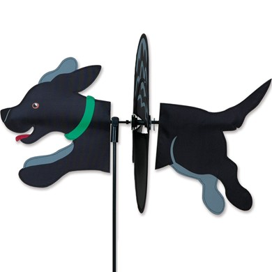 Black Lab Dog Garden Spinner